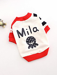 cheap -Dog Sweatshirt Dog Clothes Cartoon Cotton Costume For Spring &  Fall Men's Women's Casual / Daily
