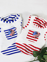 cheap -Dog Vest American / USA Casual / Daily Dog Clothes Red Blue Costume Cotton