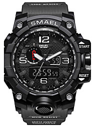 cheap -SMAEL Men's Sport Watch Military Watch Smartwatch Quartz Digital Silicone Multi-Colored 50 m Water Resistant / Waterproof Alarm Calendar / date / day Analog - Digital Charm Classic Casual Camouflage