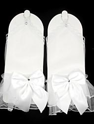 cheap -Net Wrist Length Glove Transparent / Mesh / Bridal Gloves With Bowknot