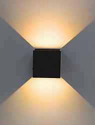 Недорогие -1 шт. 2x5 Вт затемнения современный краткий куб регулируемый накладной светодиодные настенные светильники открытый водонепроницаемый ip68 алюминий вверх вниз садовые фонари 110 В / 220 В