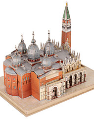 cheap -3D Puzzle Jigsaw Puzzle Famous buildings Natural Wood Unisex Toy Gift