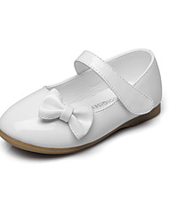 cheap -Girls' Comfort / Flower Girl Shoes / Children's Day Leatherette Flats Little Kids(4-7ys) / Big Kids(7years +) Bowknot / Magic Tape White / Black / Red Spring / Fall / Wedding / Party & Evening / EU37