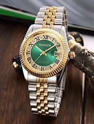 cheap -Men's Women's Luxury Watches Bracelet Watch Wrist Watch Japanese Quartz Stainless Steel Silver / Gold Water Resistant / Waterproof Calendar / date / day Creative Analog Charm Luxury Sparkle Classic
