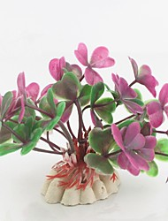 Недорогие -Аквариум Оформление аквариума Аквариум Цветы Искусственные растения Цвет отправляется в случайном порядке пластик 7 cm