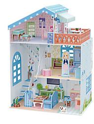 abordables -Puzzles 3D Puzzle Maison de Poupées Bâtiment Célèbre Meuble A Faire Soi-Même En bois Bois Naturel Enfant Unisexe Jouet Cadeau