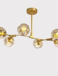 cheap -6-Light 55 cm Bulb Included Flush Mount Lights Metal Glass Painted Finishes Chic & Modern 110-120V / 220-240V