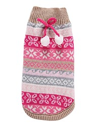 cheap -Cat Dog Coat Sweater Christmas Winter Dog Clothes Fuchsia Costume Spandex Cotton / Linen Blend Snowflake Party Cosplay Casual / Daily XS S M L XL