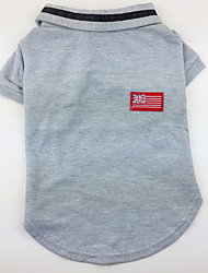 cheap -Dog Shirt / T-Shirt Dog Clothes Casual/Daily American/USA Gray Yellow Green