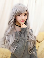 cheap -Cosplay Wigs Women's Girls' 28 inch Heat Resistant Fiber Gray Anime