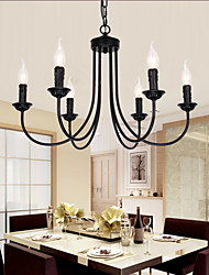 cheap -6-Light 62 cm Candle Style Chandelier Metal Candle-style Painted Finishes Traditional / Classic 110-120V 220-240V