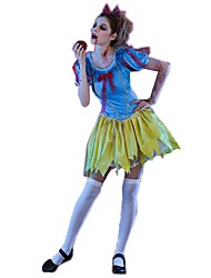 cheap -Princess Fairytale Skeleton / Skull Dress Cosplay Costume Halloween Props Women's Halloween Carnival Day of the Dead Festival / Holiday Spandex Blue+Yellow Women's Carnival Costumes Vintage / Zombie
