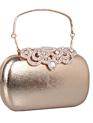 cheap -Women's Bags leatherette Clutch Rhinestone for Wedding / Party / Event / Party Black / Gold / Silver