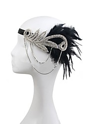 cheap -Vintage 1920s The Great Gatsby Rhinestone / Feather / Polyester Headbands / Flowers with 1 Wedding / Party / Evening Headpiece