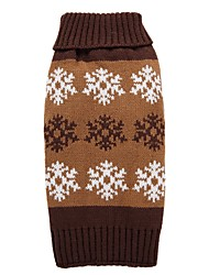 cheap -Dog Coat Sweater Snowflake Fashion Holiday Casual / Daily Wedding Halloween Outdoor Winter Dog Clothes Puppy Clothes Dog Outfits Gray Coffee Costume for Girl and Boy Dog Acrylic Fibers XS S M L