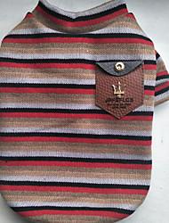 cheap -Dog Shirt / T-Shirt Dog Clothes Casual/Daily Stripe Black Green Ruby