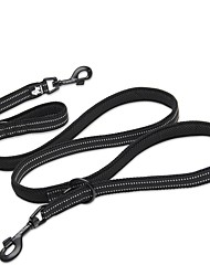 cheap -Dog Leash Anti-Slip Reflective Breathable Safety Solid Colored Polyester Mesh Nylon Black Yellow