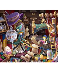 Недорогие -1000 pcs Замок Знаменитое здание Мультяшная тематика Пазлы Головоломка для взрослых Огромный деревянный Детские Взрослые Игрушки Подарок