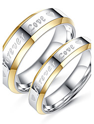 cheap -Couple's Couple Rings Titanium Titanium Steel Circle Elegant Simple Style Fashion Wedding Daily Jewelry / Engagement