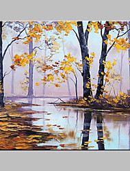 cheap -Hand-Painted Landscape Horizontal Panoramic,Artistic Nature Inspired Outdoor One Panel Canvas Oil Painting For Home Decoration With Stretched Frame or Rolled Without Frame