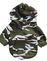 cheap -Dog Coat Dog Clothes Nature Blue Pink Camouflage Color Cotton Costume For Winter Men's Women's Casual / Daily