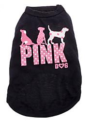 cheap -Cat Dog Shirt / T-Shirt Letter & Number Fashion Dog Clothes Black Costume Cotton 4 inch XS S M L