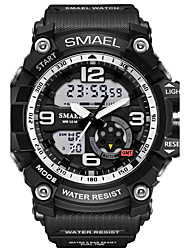 cheap -SMAEL Men's Sport Watch Wrist Watch Digital Watch Rubber Black 30 m Water Resistant / Waterproof Alarm Luminous Analog - Digital Camouflage Fashion Military - Black Green Light Blue Two Years Battery
