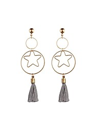 cheap -Men's Women's Drop Earrings Star Personalized Classic Tassel Vintage Basic Punk Earrings Jewelry Gold For Wedding Party Birthday Graduation Engagement Gift