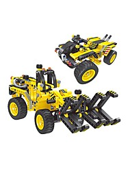 cheap -Remote Control RC Building Block Kit Toy Car Building Blocks Beach Toy Construction Set Toys Educational Toy Moto Forklift Excavating Machinery DIY Boys' Girls' Toy Gift