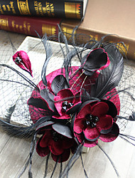 cheap -Tulle / Chiffon / Lace Fascinators / Hats with 1 Wedding / Special Occasion / Birthday Headpiece