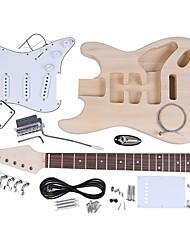 Недорогие -Электрическая гитара ST Style Basswood Дерево Своими руками Pro Веселье