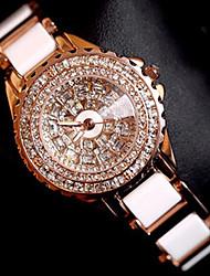 cheap -Women's Luxury Watches Bracelet Watch Wrist Watch Quartz Stainless Steel Rose Gold Creative Analog Ladies Charm Luxury Sparkle Dot - Rose Gold