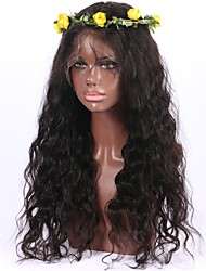 cheap -Human Hair Unprocessed Human Hair Lace Front Wig style Brazilian Hair Wavy Body Wave Wig 130% Density 8-26 inch with Baby Hair Natural Hairline African American Wig 100% Hand Tied Women's Short