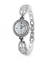 cheap -Women's Wrist Watch Simulated Diamond Watch Diamond Watch Quartz Silver / Gold / Rose Gold Imitation Diamond Analog Ladies Charm Vintage Casual Fashion - Gold / Silver Rose Gold Black / Silver One