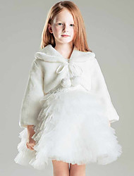 cheap -Shrugs Faux Fur / Polyester Wedding / Party / Evening Kids' Wraps With Smooth / Fur