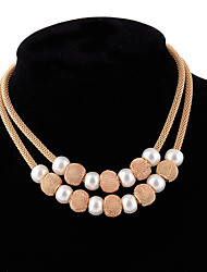 cheap -Women's Pendant Necklace Statement Classic Vintage Fashion Imitation Pearl Alloy Gold Necklace Jewelry For Wedding Party Birthday Engagement Gift Daily