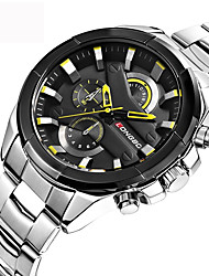 cheap -Men's Sport Watch Military Watch Wrist Watch Quartz Luxury Water Resistant / Waterproof Analog Black Black / Red Gold / Stainless Steel / Stainless Steel / Japanese / Large Dial / Japanese
