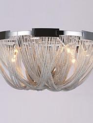 cheap -Ecolight™ 6-Light 60 cm Designers Flush Mount Lights Metal Electroplated Modern Contemporary 110-120V / 220-240V / E12 / E14