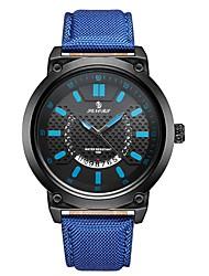 cheap -Men's Sport Watch Japanese Quartz Genuine Leather Black / Blue / Red 30 m Calendar / date / day Analog Fashion - Yellow Red Blue