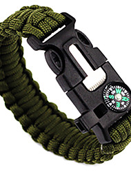 cheap -Paracord Bracelet Survival Bracelet Whistle Tactical Adjustable Emergency Nylon Camping / Hiking Hunting Fishing Outdoor Travel Green+Lime