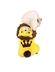 cheap -Dog Jumpsuit Dog Clothes Lion Yellow Flannel Fabric Costume For Spring &  Fall Men's Women's Casual / Daily