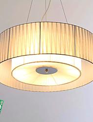 abordables -Plafonniers Lumière d'ambiance Chrome Métal Tissu Ampoule incluse 220-240V Dimmable avec télécommande