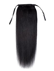 cheap -16inch-top-quality-women-new-clip-in-string-ponytail-straight-human-hair-extension-80g