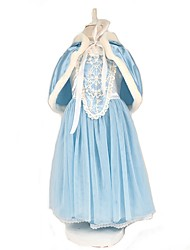 cheap -Cinderella Elsa Dress Cosplay Costume Cloak Girls' Movie Cosplay A-Line Slip Vacation Dress Red Blue Dress Cloak Christmas Halloween Carnival Polyster