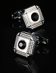 cheap -Geometric / Square Cut Silver Cufflinks Gift Boxes & Bags / Fashion Men's Costume Jewelry For