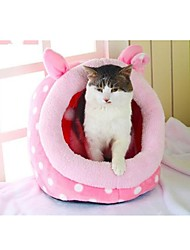 cheap -Dog Mattress Pad Bed Bed Blankets Tent Cave Bed Pet House Pet Baskets Fabric Leopard White Pink