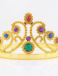 cheap -Halloween Christmas Birthday Queen Crown Mounted Gem Jewel Head Gear Cosplay Carnaval Masquerade Party Costume