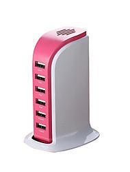 Недорогие -Зарядное устройство USB 6 портов Настольная зарядная станция Стандарт США Адаптер зарядки