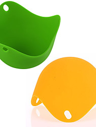 cheap -2PCS Silicone Eco-friendly Egg Poacher Boiler Heat Resistant Poaching Pods Pan Mould Baking Cup Kitchen Cooking Tool Cookware Gadget Bakeware Utensils