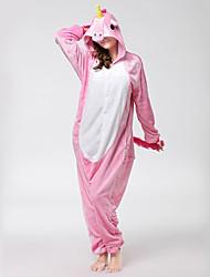 cheap -Adults' Kigurumi Pajamas Unicorn Flying Horse Pony Onesie Pajamas Flannel Fabric Cosplay For Men and Women Animal Sleepwear Cartoon Festival / Holiday Costumes